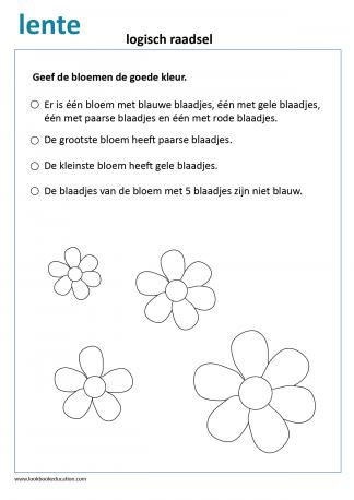 Werkblad Logisch Denken Lente
