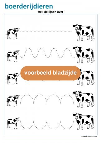 2_werkblad_boerderijdieren_schrijfpatroon