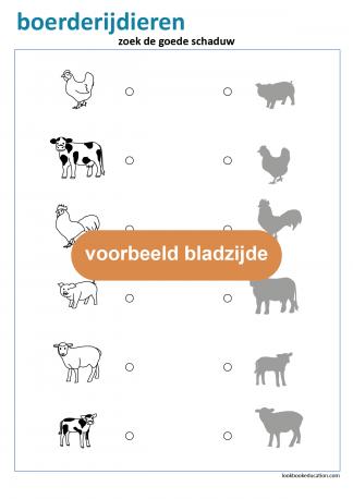 5_werkblad_boerderijdieren_schaduw