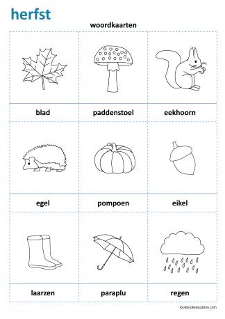 Werkblad_woordkaarten_herfst