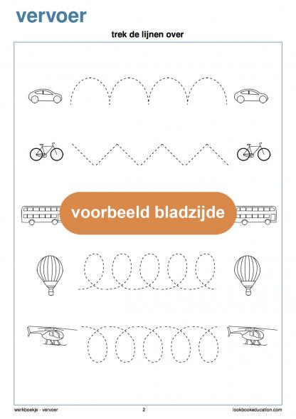 Werkblad-vervoer-schrijfpatroon-xo