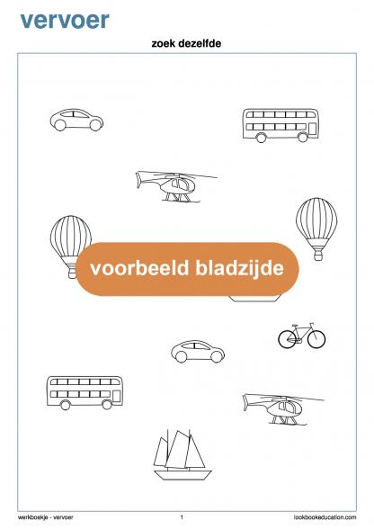 Werkblad-vervoer-zoekdezelfde-xo