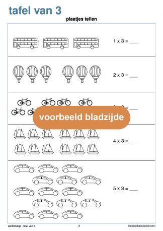 Werkblad-tafel-3-plaatjes-tellen