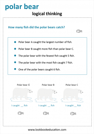 Worksheet Logical Thinking Polar Bear