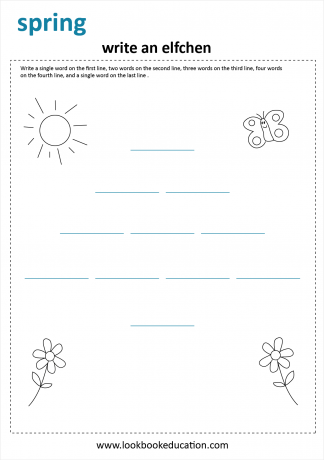 Worksheet Spring Writing