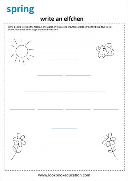 Worksheet Spring Writing