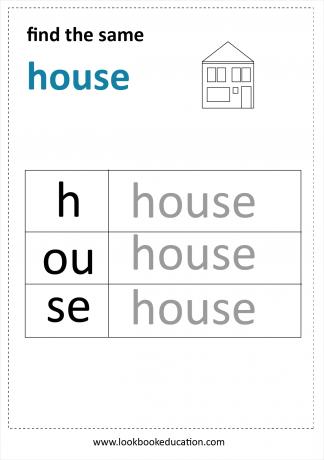 Worksheet Find the Same House
