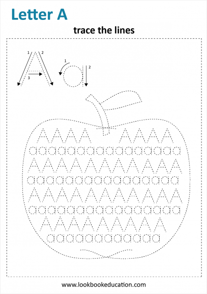 Worksheet Tracing Letter A
