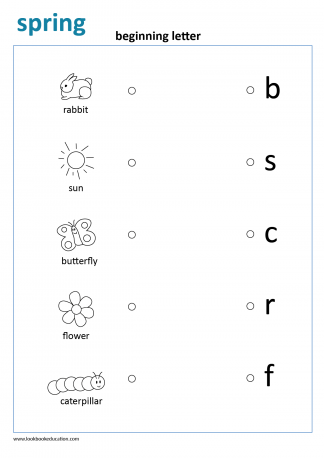 Worksheet Beginning Letter Spring