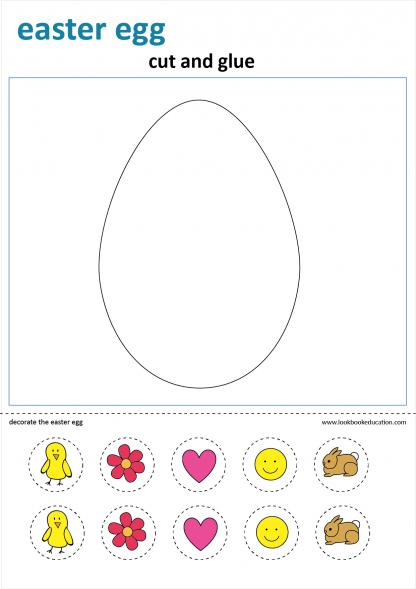 Worksheet Craft Easter Egg
