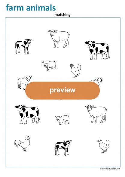 Worksheet_matching_farm
