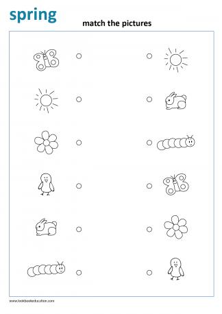 Worksheet Matching Spring