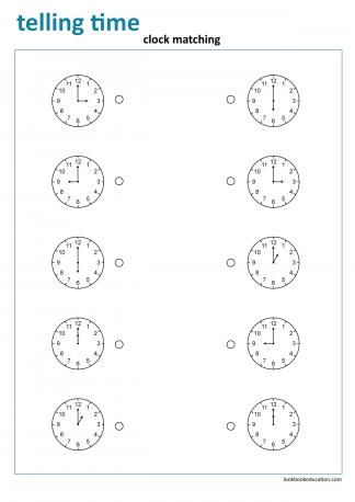 Worksheet_telling_time_matching