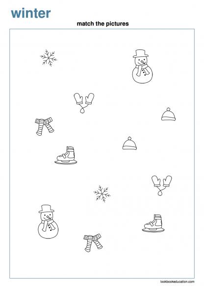Worksheet_matching_winter
